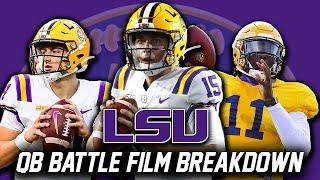 LSU QB Battle Film Breakdown | Myles Brennan, Max Johnson, TJ Finley | LSU Football