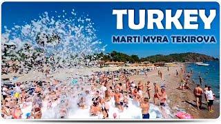 Турция Пляж отеля Marti Myra в Текирове и кристально чистое море