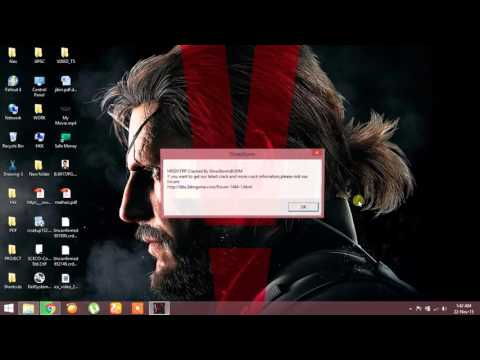 METAL GEAR SOLID V: THE PHANTOM PAIN not responding and showing no errors  FIXED!!!!!!!!!!!!! by Hiran Kurup