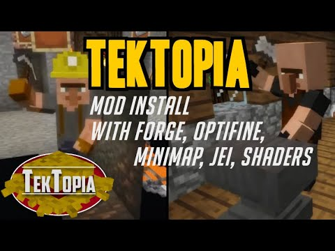 How To Get TekTopia For Minecraft 1.12.2 - Download & Install TekTopia Mod (with Forge On Windows)