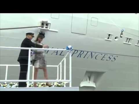 Kate Attends Princess Cruises Ship Naming Ceremony