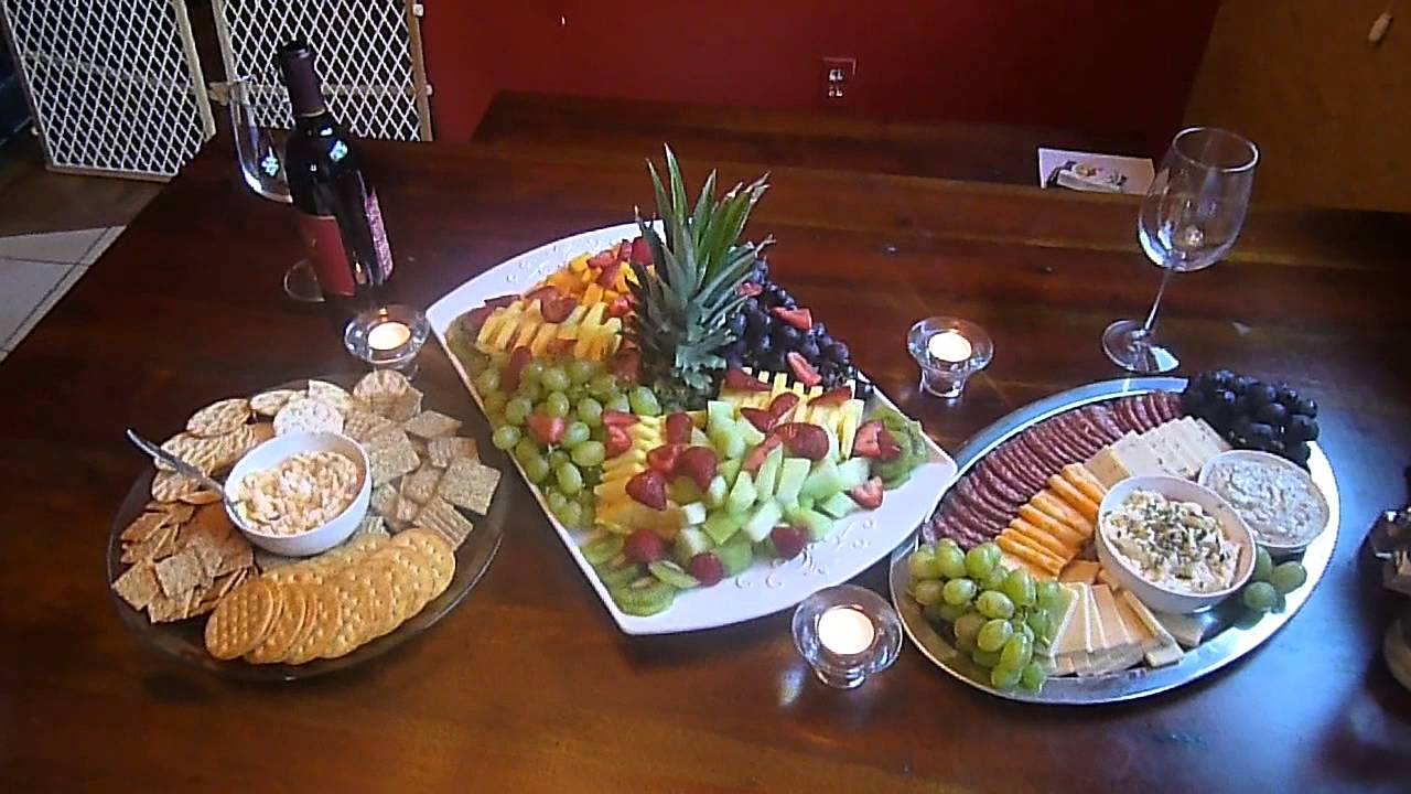 My fruit platter and meat and cheese platters I made for tonight\u0027s wine and cheese feast lol. - YouTube & My fruit platter and meat and cheese platters I made for tonight\u0027s ...