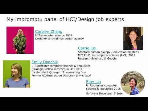 HCI/Design Jobs for New College Grads (45-minute talk)