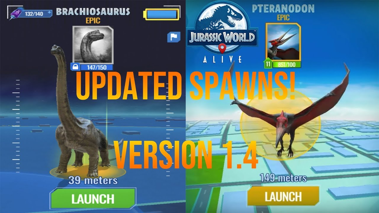 JURASSIC WORLD ALIVE 1 4 COMPLETE SPAWN GUIDE! WHERE TO FIND PTERANODON