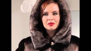 видео Шуба из норки с капюшоном, без отделки