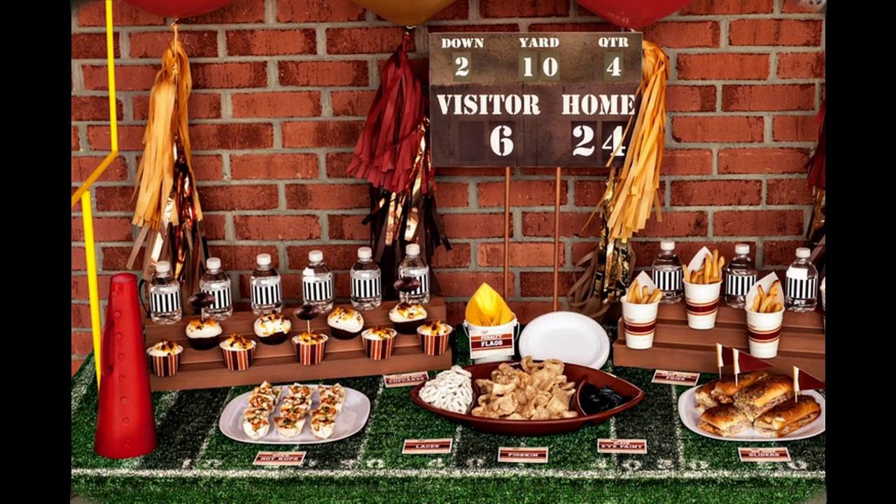decorations classic image ideas of party themed style football decor bowl super