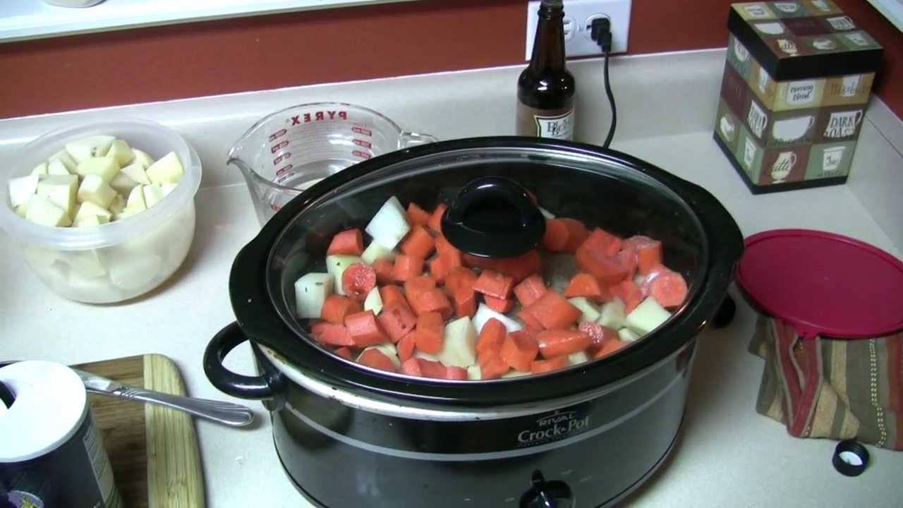 how to make deer stew in crock pot