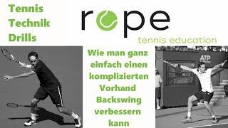 Tennis Vorhand Technik - Wie man ganz einfach einen komplizierten Vorhand Backswing verbessern kann