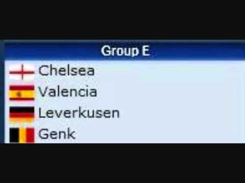 UEFA Champions League Groups 2011-2012