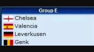 UEFA Champions League Groups 2011-2012