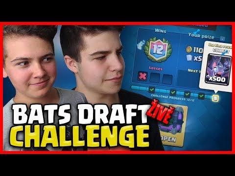 BATS DRAFT CHALLENGE! | CLASH ROYALE CZ/SK | OGY & PETKOL