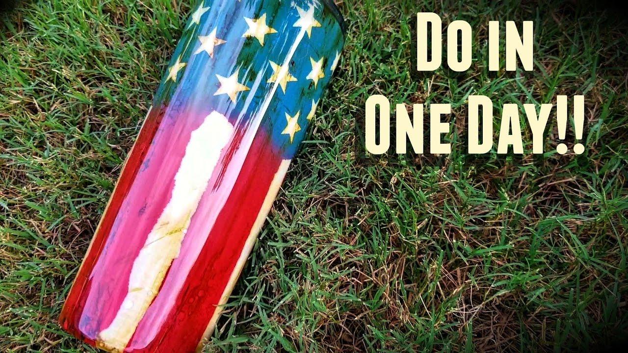 Easiest Distressed American Flag Tumbler Tutorial