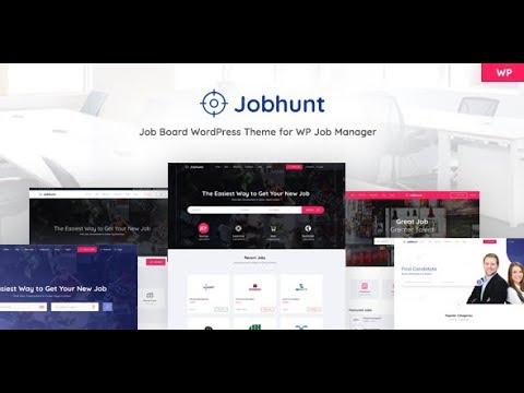 Demo Content Import | Jobhunt - Job Board WordPress Theme For WP Job Manager