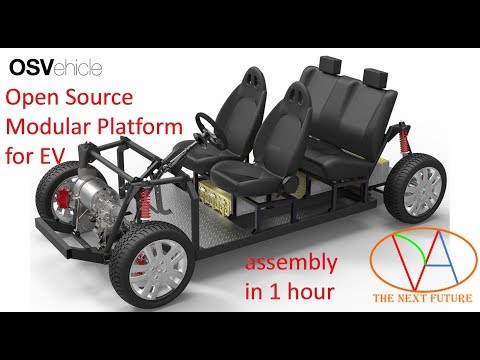 OSVehicle Open Source Modular Platform for Electric Vehicle assembly in 1 hour