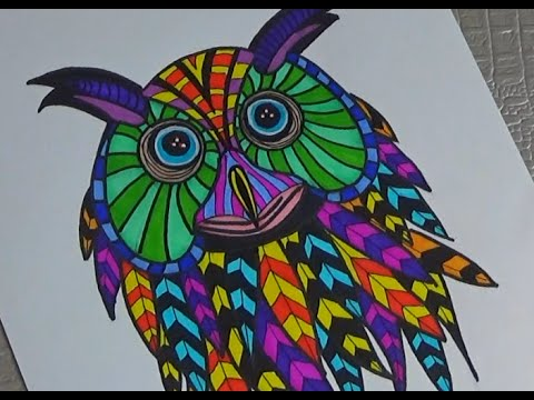 dessiner un hibou dessin et coloriage assez facile youtube. Black Bedroom Furniture Sets. Home Design Ideas