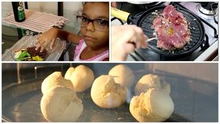 VLOG:Pão de queijo com baroa ♥ Vamos ter reforma ♥ Pior forma de fazer bife! ♥Almoço.