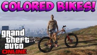 GTA 5 Online: Colored Bike Glitch - How To Customize Bicycles Trick/Glitch! (GTA 5 Glitches)