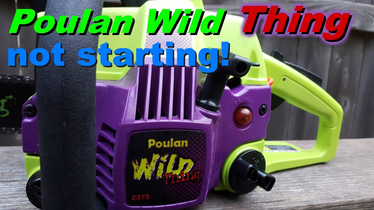 Poulan wild thing chainsaw not starting  Fuel line fix