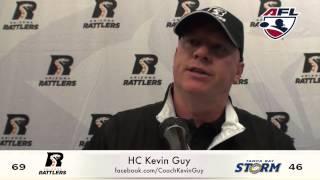 6-6-15; Arizona Rattlers VS. T.B. Storm Post Game Press Kevin Guy