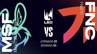 MISFITS GAMING VS FNATIC | LEC Spring split 2021 | JORNADA 1  | League of Legends