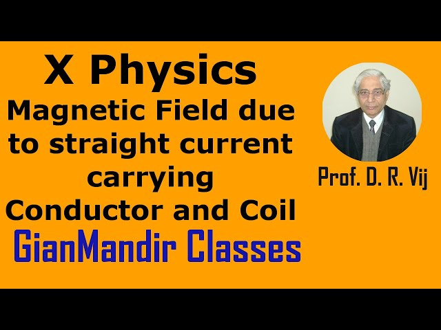X Physics | Magnetic Field due to straight current carrying Conductor and Coil by Amrinder Sir