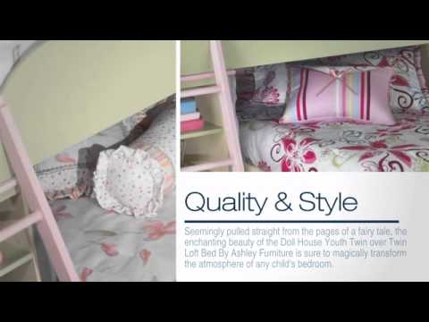 Doll House Youth Twin Over Twin Loft Bed Set From Ashley Youtube
