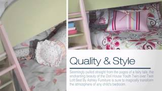 Doll House Youth Twin Over Twin Loft Bed Set - Colemanfurniture.com