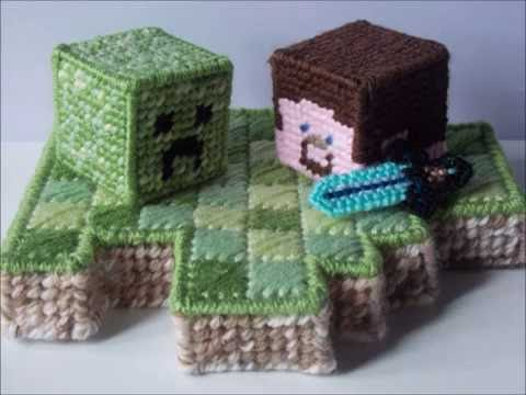 How To Make Plastic Canvas Minecraft Creeper Youtube