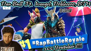 FORTNITE RAP BATTLE ROYALE (100 YouTubers rap on one song!) #RapBattleRoyale | Reaccion