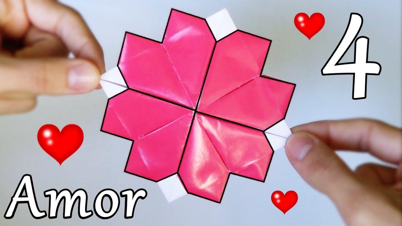 4 Corazones de Papel - Origami Increíble! - YouTube - photo#39