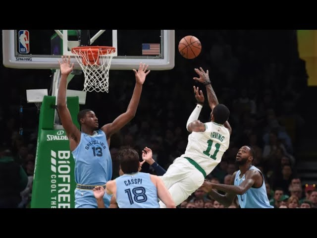 Kyrie Irving 38 Pts No Look Behind Back Pass Grizzlies! 2018-19 NBA Season