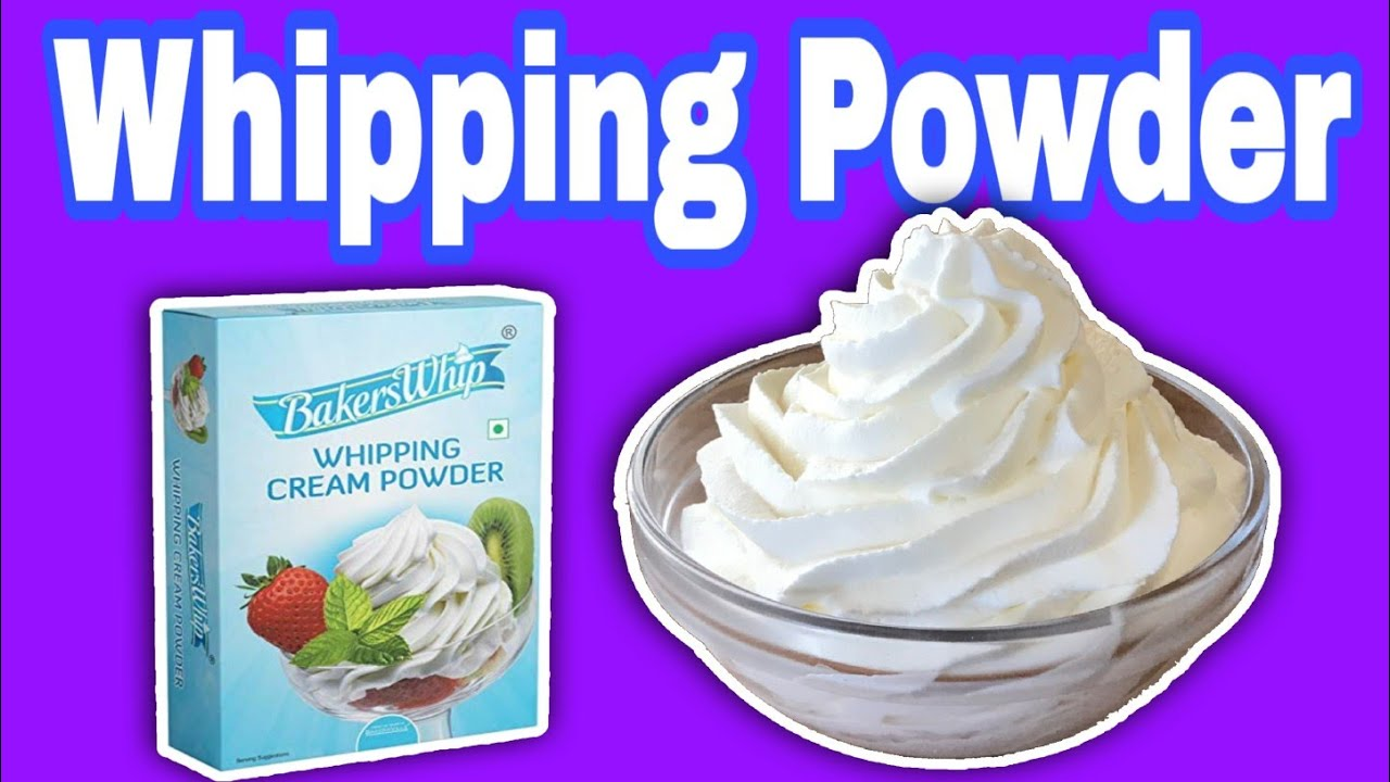 How To Make Whipp Cream From Whipping Powder Youtube