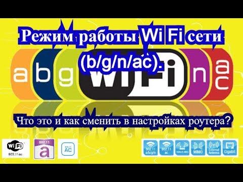 Режим работы Wi Fi сети (b/g/n/ac). Что это и как сменить в настройках роутера?