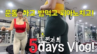 브이로그 일상❤︎ 확찐자의 5일? | 유희킴(YOUHE…
