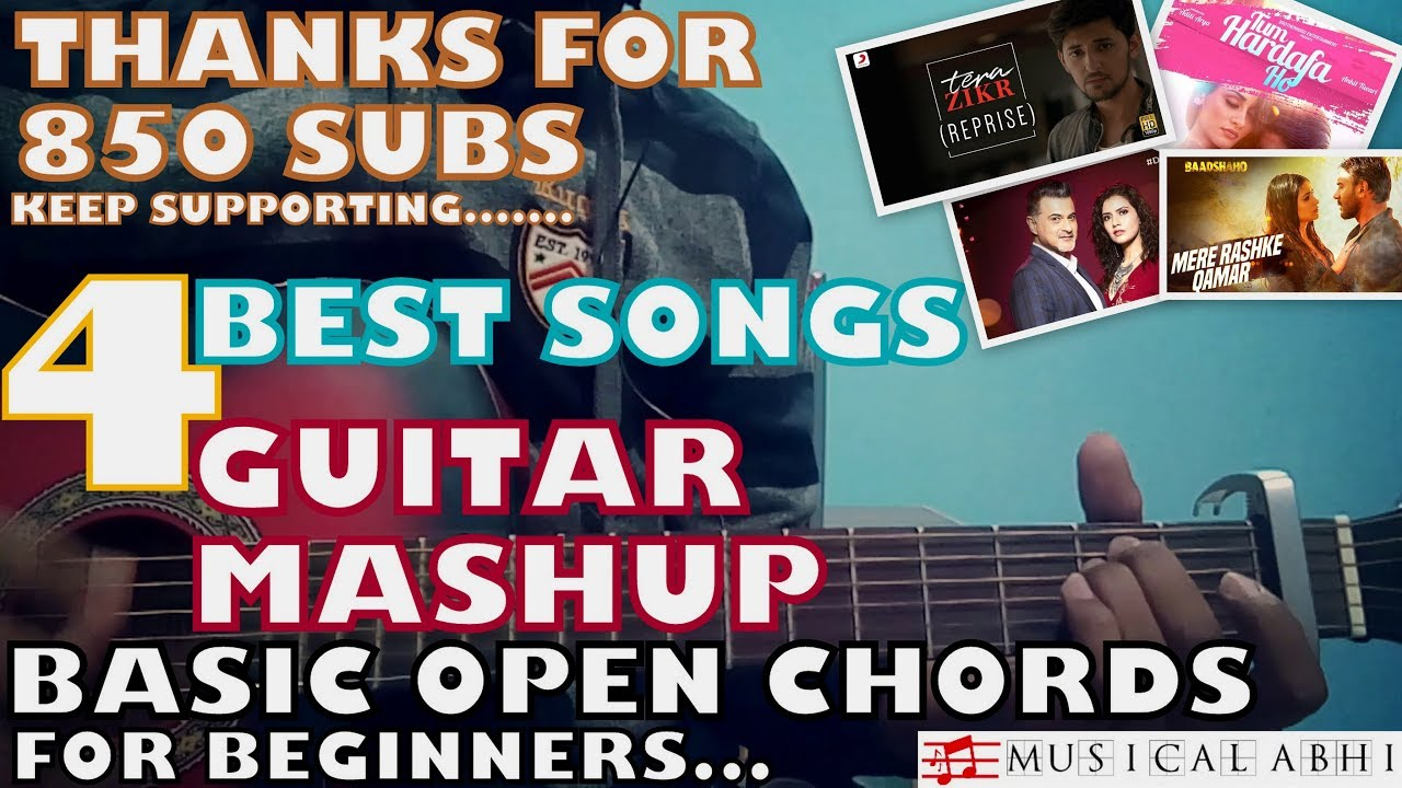 4 Best Songs Guitar Mashupplay Anywherechords Strumming