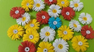 Маленькие цветочки из бумаги
