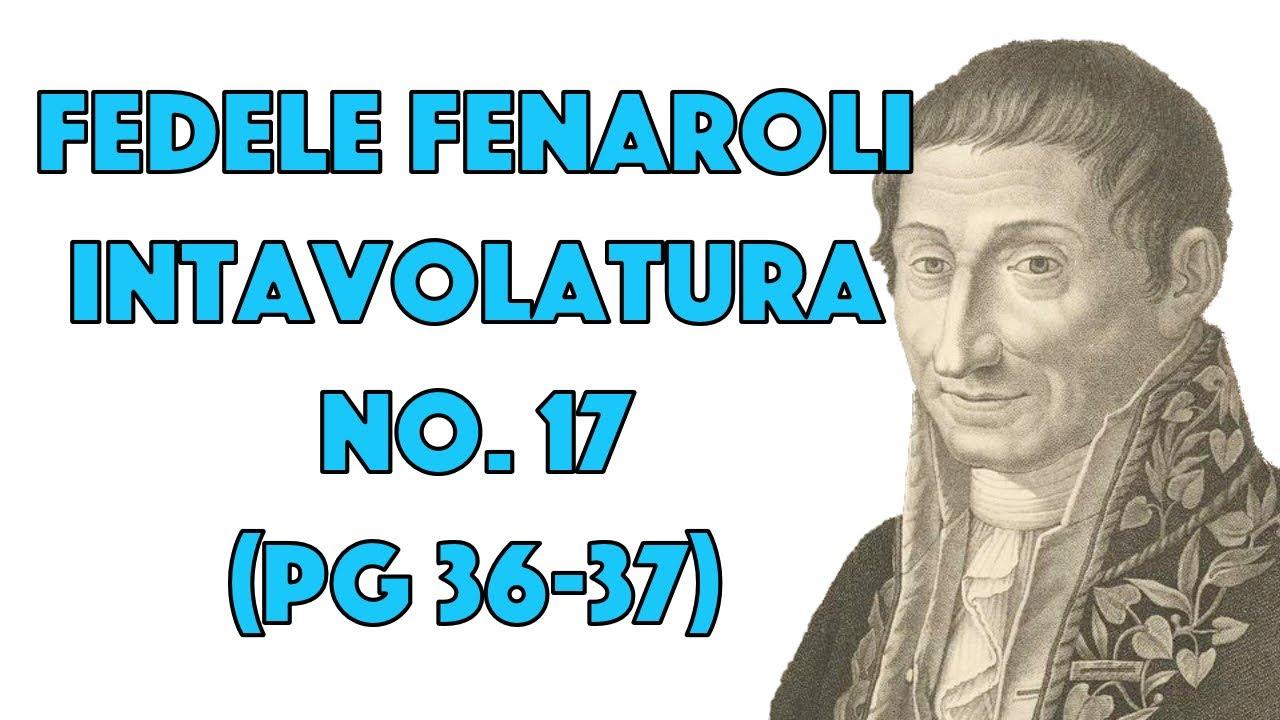 Intavolatura No. 17 (pg 36-37) by Fedele Fenaroli