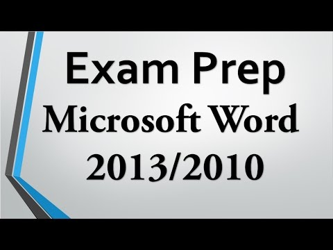 Exam Prep Word 2016/2013/2010