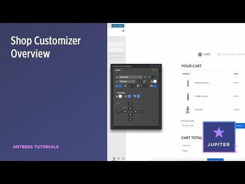 Jupiter Shop Customizer Overview