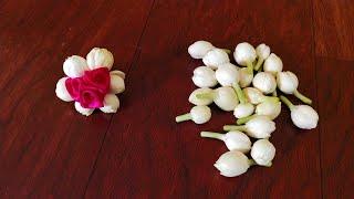 Jasmine artificial flower jadai Billai/Bridal veni making