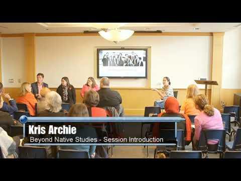 AM3 - Beyond native studies -  Kris Archie session introduction