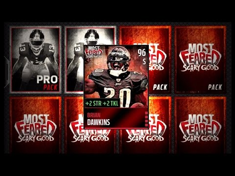 Madden NFL 16 Mobile Gameplay - MOST FEARED BRIAN DAWKINS! Most Feared Bundle Pack Opening