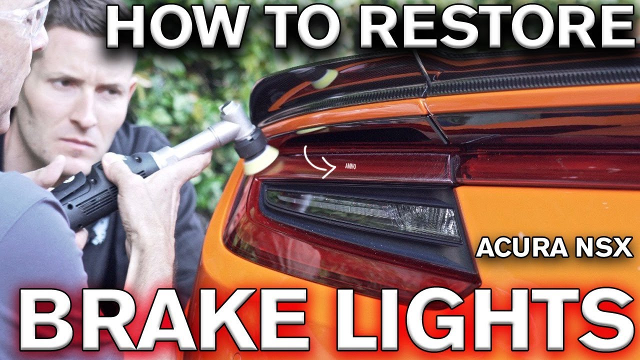 How to Restore Scratched Tail Light Lens Acura NSX