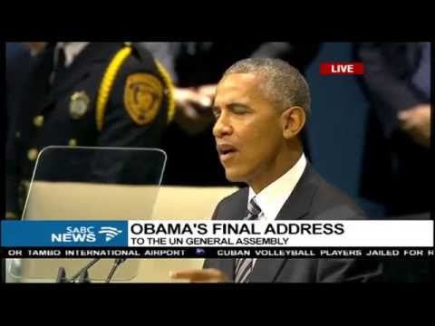 Barack Obama's final address at the UN general assembly