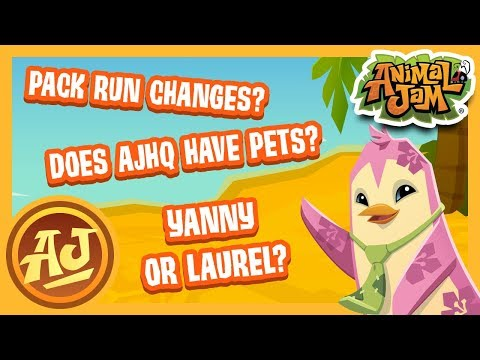 Why Do The Pack Runs Change??? Do You Hear Yanny or Laurel??? | Answering Comments | Animal Jam