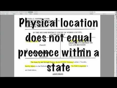 Exposing Another Political Fallacy - Physical Location Doesn't Equal Presence Within a State