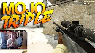 CS:GO - Mojo Triple on livestream!