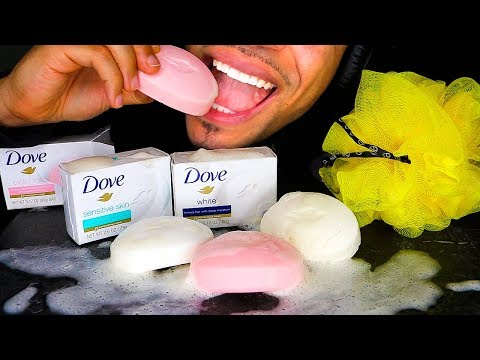 ASMR EDIBLE SOAP BARS WITH BUBBLES EATING *FAKE* MUKBANG 먹방 PRANK JERRY MOUTH SOUNDS NO TALKING