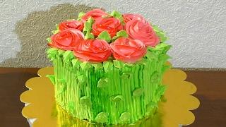 Торт букет цветов Рецепт торта Спартак Как сделать кремовый торт букет с цветами