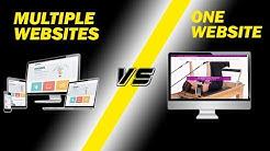 Multiple Niche Websites Vs One Main Website | SEO Tips | - Ben's Business Podcast #19